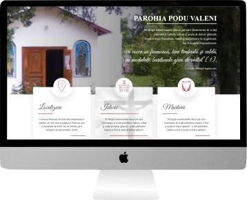 web design personalizat parohia podu valeni
